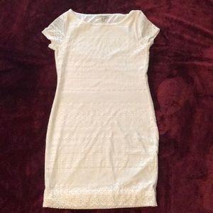 Banana Republic white lace dress!